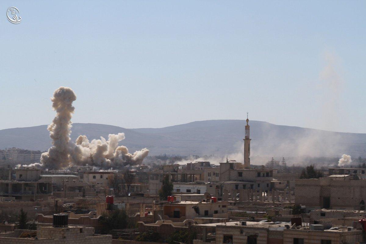 Bombing the city of Darya